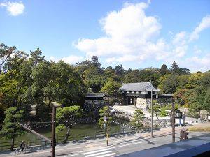 高知城を望む